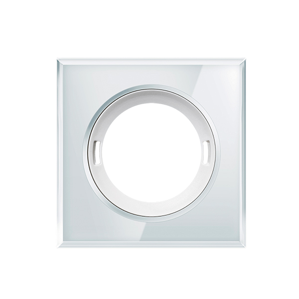 Cover FLAT series GLASS SQUARE WHITE cover